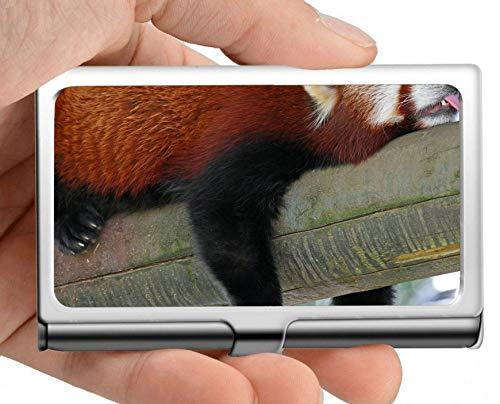 Visitenkartenetui, Partyschlaftier Panda Visitenkartenetui Visitenkartenetui (Edelstahl)