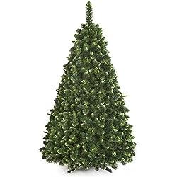 ARBOL NAVIDAD GRANDE Joven del árbol de pino de Navidad Nuevo, en caja, bosque tradicional Verde Lujo con Soporte - 180cm - YOUNG PINE