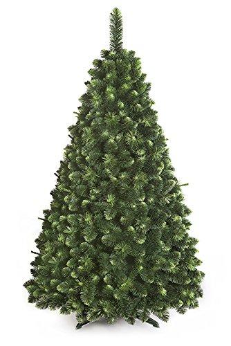 Albero Di Natale Pino giovane di neve Grande Verde Foresta Tradizionale Con Base In Scatola Nuovo - 220cm - YOUNG PINE