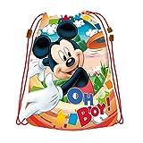 """Mickey Maus Disney Sportbeutel Turnschuhbeutel """"Oh Boy!"""" Wasserabweisend für Jungen"""