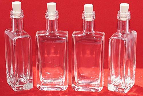 casa-vetro 12, 24 oder 48 Flaschen GLASFLASCHEN 50 ml (Vicky lang-Korken) Kleine Mini Flaschen Miniatur Schnapsflaschen 5 cl Nr 40ML (48) -