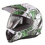 Qianliuk Motobike Helmet Men ' S Cross Country Races Helme Erwachsenenkartentürme Motorrad-Sicherheitshelme mit Brillen