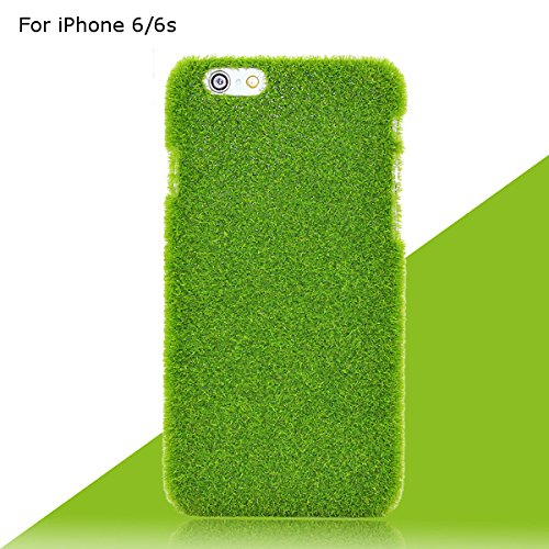 novelty-green-grass-lawn-plush-hard-plastic-handy-cover-case-green-turf-handy-cover-case-fur-iphone-