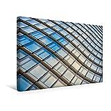 Calvendo Premium Textil-Leinwand 45 cm x 30 cm Quer, Sky Office in Düsseldorf | Wandbild, Bild auf Keilrahmen, Fertigbild auf Echter Leinwand, Leinwanddruck Orte Orte