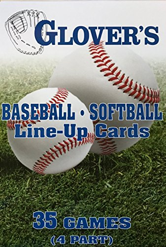 Glovers scorebooks Baseball/Softball Line-Up Cards, groß (5,5x 8,5, 4Teil)