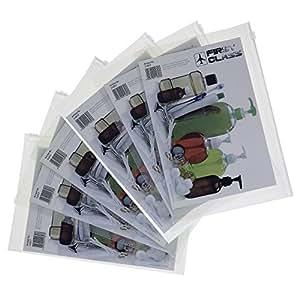 6 Stück Kosmetikbeutel (transparent, 1 Liter) für Flüßigkeiten auf Flugreisen + 1 x Merkblatt
