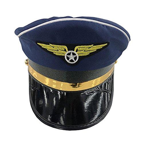 BESTOYARD Polizeimütze Polizist Hut Bühnenleistung Militär Caps Cosplay Party Kostüm Zubehör (Navy Blau)