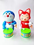#8: Foreign Holics Cartoon Character Drum Playing with Real Dancing Toy for Kids 6 inches 2 Pcs (Multicolor)
