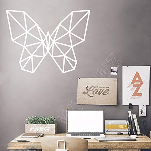 Geometrische Schmetterling Zitat 3D Kunst Dekor Wohnkultur Abnehmbare Vinyl Wandaufkleber Zimmer Tier Serie Wanddekor 77 * 58 cm