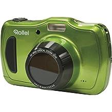 Rollei Sportsline 100 - vielseitige Digitalkamera mit 20 MP, 4-fach optischem Zoom, spritzwasserfest und wasserdicht bis zu 10 Meter mit Foto-Zeitraffer-Funktion - Grün