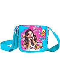 PERLETTI Bolso Bandolera de Niña con estampado Disney Soy Luna - Practica bolsa cruzada de viaje y para el ocio - Bolso de hombro con cierre frontal de color rosa - 14x15,5x4 cm