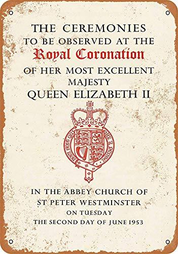 Kia Haop 1953 Coronation of Queen Elizabeth II Metall Fender Blechschild Plaque Art Poster Wandaufkleber Dekoration Queen Elizabeth 1953