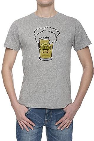Tasse De Bière Givrée Homme Gris T-shirt Toutes Les Tailles | Men's Grey T-Shirt Top All Sizes
