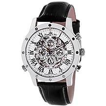 Lindberg & Sons Reloj Esqueleto para Hombre de Automático con Correa en Cuero SK14H001