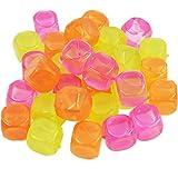 My-goodbuy24 90 Eiswürfel bunt wiederverwendbar Eiswürfelform Party Kunststoff Dauereiswürfel