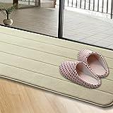 Öl absorbierende Küche matten Badezimmer Badewanne mat mat Strip sub Schiebetür mat Tür, 50 x 80 cm, Khaki Streifen