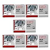 5er Pack Novus Heftklammer No.10, 1000er Päckchen für ür B 10 FC, 10 FC Professional, 10 Professional, 100EL, 10EL (5, 1000er Päckchen | No. 10 super)