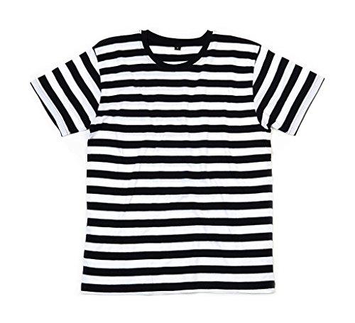 Streifen T-Shirt XL,Black/White (Einbrecher Kostüm)