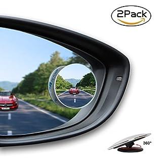 Toter Winkel Spiegel,Apriller Blind Spot Blindspiegel Außenspiegel Aufkleber Zusatzspiegel  Fahrschulspiegel Rückspiegel 50mm 2 Pack für Auto
