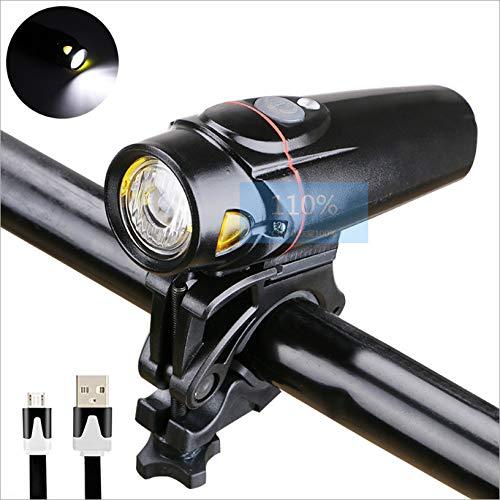 JUHUIZHE Bike Light, USB Rechargeable Bicycle Cycling Headlight, Mountain Bicycle Front Light, 2000mah/350 Lumens Led Flashlight Ipx5 Waterproof