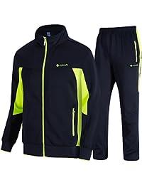 9e296fac24d7 donhobo Mens Tracksuit Set Contrast Cord Jogging Bottoms Hoodies Zip  Trousers Gym Sports Suit Sets Joggers
