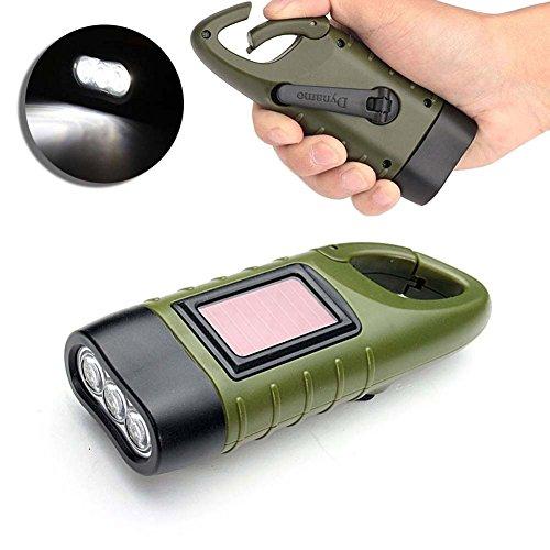 essai à main Fonctionne à l'énergie solaire, Torch, Starall batterie d'urgence lampe de poche LED Lampe torche à mousqueton pour le camping d'escalade randonnée