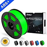 SUNLU ABS Plus 3D Printer Filament, ABS Filament 1.75 mm, 3D Printing filament Low Odor Dimensional Accuracy +/- 0.02 mm, 2.2 LBS (1KG) Spool 3D Filament for,Green ABS+
