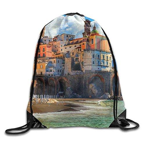 Street Sport Red Wolf Head Print Drawstring Backpack Rucksack Shoulder Bags Gym Bag Sport Bag 486
