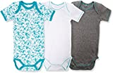 NAME IT Baby-Jungen Body Nmmbody 3P SS Baltic Noos