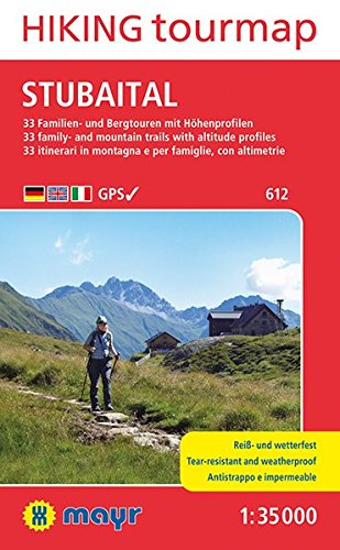 Stubaital Hiking tourmap: Wander-Tourenkarte 1:35000. GPS-genau. (Mayr Wanderkarten) -