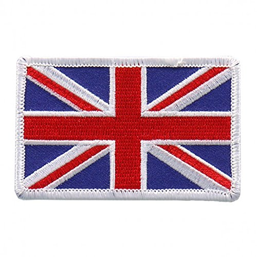 Embroidered BRITISH Flag PATCH, Iron-On / Sew-On - 3