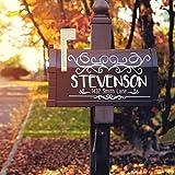CELYCASY - Adesivo per cassetta postale, in vinile, numero indirizzo, numero civico, lettere in vinile