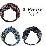 ivyacen 3er Pack Retro elastisches Haarband