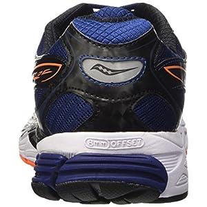 Saucony Ride 8, Zapatillas de Running para Hombre, Azul (Midnight/Black/Orange), 43 EU