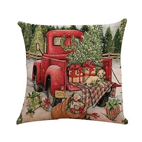 Zolimx home decorazione cuscino natale copre ricamo gettare federe per auto casa decorativa, regalo di natale