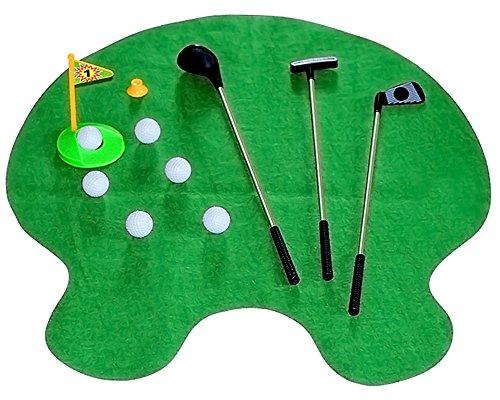Preisvergleich Produktbild KAIKSO-IN WC Badezimmer Minigolf Mat Set Spiel Potty Putter-Geschenk-Set