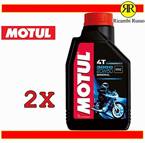 Olio motore moto Motul 3000 20w50 4T minerale litri 2