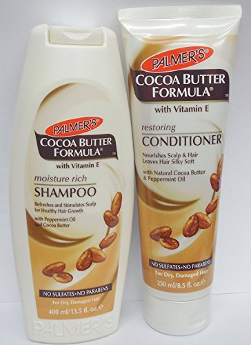PALMER'S COCOA BUTTER FORMULA VITAMIN E MOISTURE RICH SHAMPOO & RESTORING CONDITIONER SULFATE FREE** DEAL**