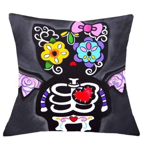 Kitty # Day of the dead, Tag der Toten, Mexico, Fiesta Skull Kissen, Mexican Sugar, Kissenbezug, Día de los muertos ! (Hello Kitty Dia De Los Muertos)