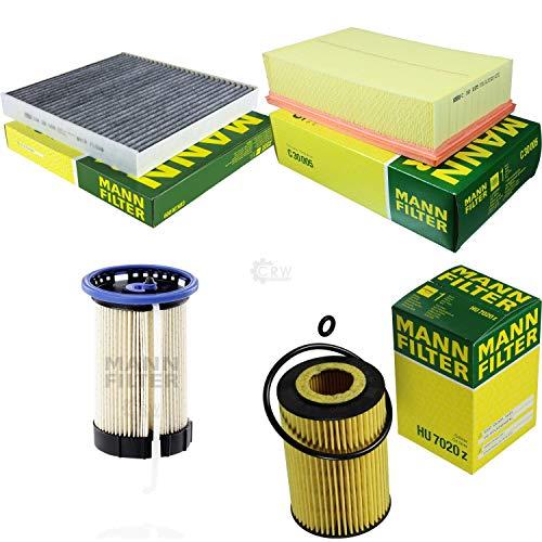 Preisvergleich Produktbild MANN-FILTER Inspektions Set Inspektionspaket Luftfilter Ölfilter Innenraumfilter Kraftstofffilter
