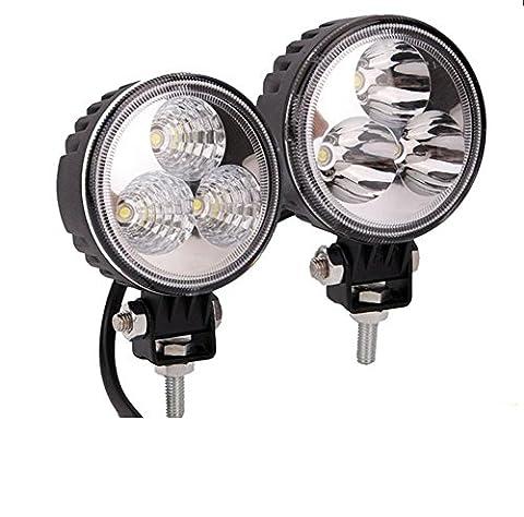 NWYJR LED Phare9W LED lumière de travail lumières intempéries Offroad Carter Boat Jeep ATV SUV lampe lampe de travail LED projecteur 10-30 (V) 2PCS