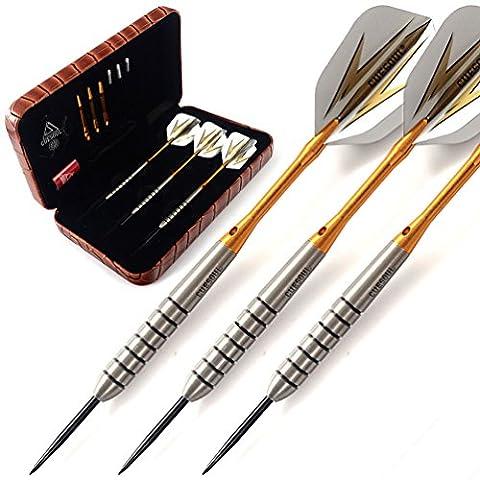 CUESOUL 20 Grams Tungsten Steel Tip Darts Set 90% Tungsten with Luxury Case