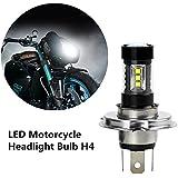 FEZZ 1500LM Bombilla LED de Faro Motocicletas Luz Delantera Hi Lo Beam, 80W Blanco para Yamaha Suzuki Kawasaki