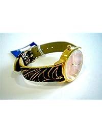 Sami RSM-81210-4 Reloj de Pulsera de Mujer Corona Cristal Correa Piel Marron