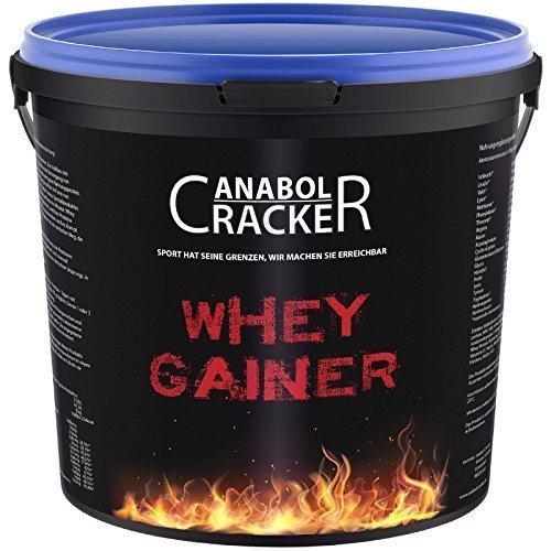 Whey Gainer Protein 100% rein, Hardgainer, 3000g Eimer, Vitamine, Aminosäuren Eiweißpulver (3Kg Erdbeere)