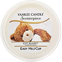 Yankee candle 1504088E Scenterpiece Soft Blanket Melt Cup, Cera, Bianco,
