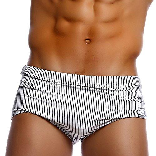 Taddlee - Bañador - para hombre blanco blanco X-Large