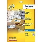 Avery España J8169-25 - Pack de 25 folios de etiquetas para envíos, 99.1 x 139 mm, color blanco