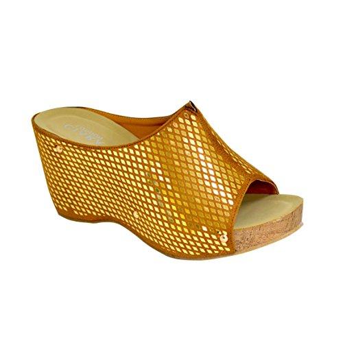 Nouvelle chaussure femme pour femme en sandale à talons supérieurs brillants Or