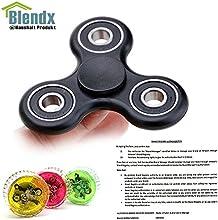 Tri Fidget Spinner Reductor de tensión de juguete (negro)